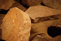 Jordan Museum - Amman - Safaitics and Thamuds - Inscriptions of the Nomads (jrozwado) Tags: museum asia amman jordan petroglyph متحف الأردنّ عمّان thamud safaitic
