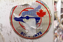 blue jays (Ian Muttoo) Tags: ontario canada sticker gimp bluejays mississauga torontobluejays streetsville imagecollections 20151017143031edit