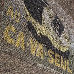 Ricinez vos chaussures... (Tim Boric) Tags: pub mural reclame ad advertisement murales publicité shoepolish peintes muurreclame jupille schoensmeer çavaseul