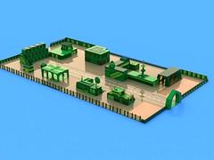 BIOTRON 7584 (Crimso Giger) Tags: green lego render space moc afol ldd biotron legodigitaldesigner bluerender