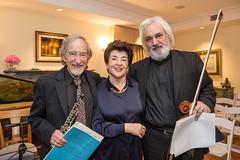 Allan Vogel, LACO à la carte chair and board member Mahnaz Newman and Andrew Shulman