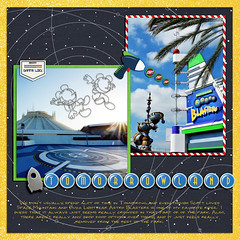 Tomorrowland Cover (girl231t) Tags: 0scrapbooking zzmyscrapbookpages 04year 0photos 2015 scrapbook layout 12x12layout digi disney disneyland projectmouse