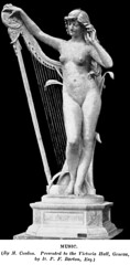 Jean Coulon (1853-1923) - Musique (c1893) (ketrin1407) Tags: blackandwhite sculpture monochrome statue blackbackground naked nude erotic geneva 19thcentury sensual harp victoriahall jeancoulon