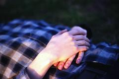 (Lesley Rivera) Tags: boy sunlight man color film grass 35mm canon golden dc washington hands kodak bokeh magenta hour plaid intimate