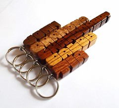Mixed Order -  Wood Name Keychains (DustyNewt Scott) Tags: wood grandma tia john wooden oak keychain personal handmade name letters granddaddy caleb woodworking personalized fob keyfob winebarrel cocobolo zebrano leopardwood amboynaburl dustynewt