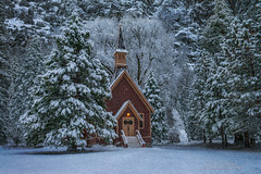 Yosemite Chapel (Darvin Atkeson) Tags: california park mountains clouds forest nevada chapel canyon sierra glacier national valley yosemite halfdome rest bridalveil elcapitan darvin atkeson darv lynneal yosemitelandscapescom