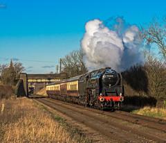 9F Power (4486Merlin) Tags: england europe leicestershire unitedkingdom transport steam railways midlands gbr greatcentralrailway woodthorpe heritagerailways 92214 exbr brstd9f2100 christmasholidaytrains