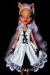 Macaron (saijanide) Tags: monster high wolf doll dress ooak pastel lavender lolita 80s customized custom mh rococo repaint clawdeen saijanide