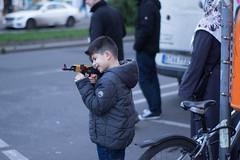 Kalashnikovs are for kids. Kotbusser Damm, December 2015. (joelschalit) Tags: berlin kids kreuzberg germany children toys gun middleeast arab immigration immigrant ak47 kalashnikov asylumseeker assaultrifle