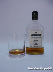 Tipple (T Macca) Tags: brandy bottle glass drink alcohol brown stilllife white