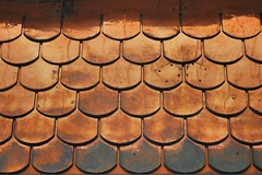Classic Copper Covering (unclebobjim) Tags: metal copper shingles lines geometry