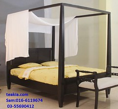 teak wood bedroom furniture-teak bed frames- poster beds-Contemparary Bed (teak furniture) Tags: teakia teak wood bedroom furniture bed frames poster beds contemporary classic modern malaysia indoor sale online