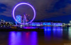 Cityscape - London Eye (toborophoto) Tags: bridges river thames architecture buildings londonlandmarks colourpop colour londoneye lightrails cityscapes longexposure