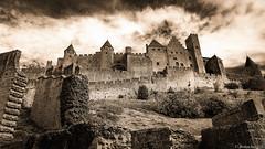 Carcassonne-011 (bonacherajf) Tags: carcassonne cit remparts forteresse citadelle aude murailles