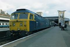 BRITISH RAIL 47624 CYCLOPS (bobbyblack51) Tags: british railways class 474 brush type 4 sulzer coco diesel locomotive 47624 cyclops exeter st davids station 1987