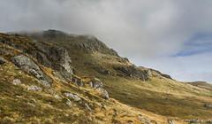 "Ben Arthur, - ""The Cobbler"" (A blond-Tess) Tags: scottish scotland hike hiking benarthur thecobbler mountain scottishmountains scottishweather fog foggy october outdoorphotography canonphotography canon tessaxelsson 7d uk rockformation door mountainside landscape scottishlandscape"