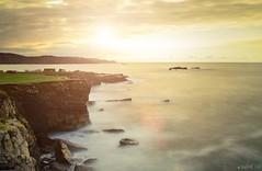 Amarillo en Verdicio (Jaime GF) Tags: instagramapp uploaded:by=instagram sunset yelow coast rocks sea cliff atardecer amarillo costa acantilado rocas mar verdicio gozn asturias spain nikon d7000
