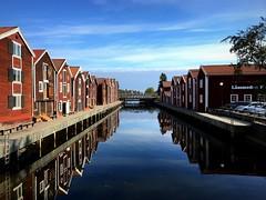 Reflections (PeterCH51) Tags: sweden reflections iphone peterch51 fishermen houses hudiksvall harbour hamn möljen explore explored inexplore water reflection