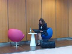 Heading to Switzerland, I suppose   [P1000432] (SeppoU) Tags: saksa deutschland germany hamburg turisti tourist npsy snapshot panasonic dmctz22 lppri laptop tytt girl