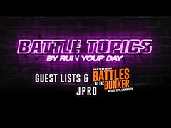 BATTLE TOPICS | Guest Lists & The Bunker | J-Pro... (battledomination) Tags: battle topics | guest lists the bunker jpro battledomination domination rap battles hiphop dizaster saurus charlie clips murda mook trex big t rone pat stay conceited charron lush one smack ultimate league rapping arsonal king dot kotd freestyle filmon