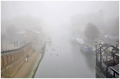 331-366 Foggy Canal (Aged Desperado) Tags: 366 nikon nikkor nikonflickraward 50mm 50mm18 d5000 landscape light canal