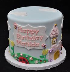Holly and Ben themed birthday cake (jennywenny) Tags: holly ben cake birthday kids ladybug castle princess flowers