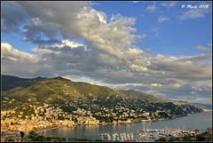 Rapallo Bay (Maurizio Longinotti) Tags: rapallo rapallobay golfodeltigullio landscape seascape paesaggio panorama view mare sea marligure cielo sky nuvole clouds costagura liguria italia italy