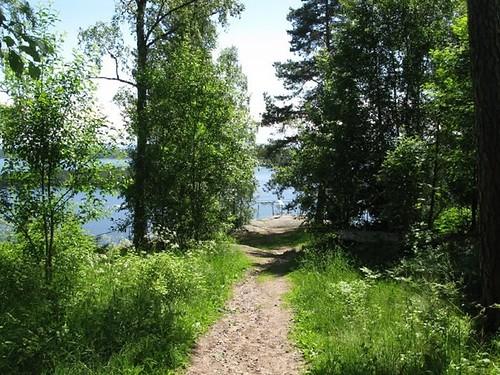 Stigen till Klintens utsiktsplats på Vaberget 2010