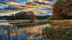 Fall is here, Norway (Vest der ute) Tags: g7x norway rogaland djupadalen haugesund waterscape water landscape trees clouds reflections autumn fav25