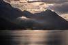 Backlit cloud over Buchau, Lake Achen (0333) (Phil Bagnall) Tags: achen achensee alpine alps austria buchau europa europe gebirge karwendel maurach rofan sun cloud holiday lake landscape mountain summer vacation monochrome pertisau österreich