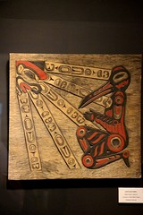 Tlingit Panel (demeeschter) Tags: canada yukon territory teslin lake town heritage center native american tlingit historical museum art attraction