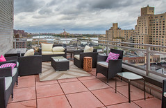 Rooftop HDR (Photos By RM) Tags: rooftop patio newyorkcity manhattan queens storm weather cloudy clouds rooseveltisland hdr