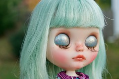 Agnes WIP (Chassy Cat) Tags: chassycat custom customized eyechips msr misssallyrice miss sally rice takara translucent neo blythe fantasy hair eyelidart eyelids art