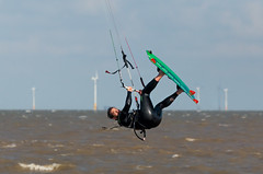 JP70D_IMG_7386 (John Perriam DPAGB AFIAP) Tags: whitstable kent england uk canon eos kite surfer wind turbines
