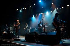 Brian Fallon-29 (redrospective) Tags: 2016 20161116 brianfallon london november2016 o2forumkentishtown band blue concert electricguitar electroacousticguitar gig guitar guitarist instruments man micstand microphone music people silhouette singer singing spotlights