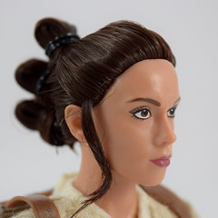 Star Wars Elite Series Rey Premium Action Figure - Disney Store Purchase - Deboxed - Freestanding - Closeup Left Front View #2 (drj1828) Tags: starwars theforceawakens rey figure actionfigure purchase disneystore eliteseries premium posable 10inch deboxed freestanding