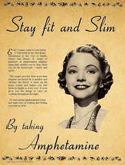 Stay Slim and Fit with Amphetamine (kevin63) Tags: lightner page magazine advertisement woman fit slim amphetamine dietpill fifties sixties drug