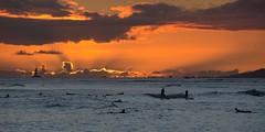 Waikiki Sunset (Oliver Leveritt) Tags: nikond7100 oliverleverittphotography waikikibeach waikiki honolulu hawaii oahu sunset surfers afsdxvrnikkor18200mmf3556gifed