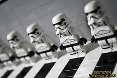 Stormtrooper Lineup (WattyBricks) Tags: lego star wars stormtrooper empire imperial buckethead