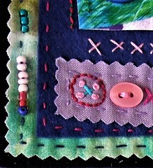 Needle pointless, but fun to do. (jenbrasnett) Tags: colour therapeutic threads buttons beads