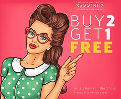 Buy 2 get 1 Free imvu (namminliz) Tags: woman art pop beautiful girl vector vintage retro background style female illustration lady cartoon popart sexy beauty design person pretty fashion hair kitsch advertise concept character sale pattern point hand comic face color advertisement isolated glamour hollywood brown spectacles glasses halfton polkadot show fingers forefinger