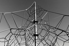 Summit (Mr Richie) Tags: panasonic lumix lx5 digital playground west norwood blackandwhite bw monochrome filmgrain