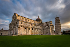 Leaning Tower of Pisa (Sunrising Life) Tags: pisa tower leaning grass green ancient church sky dramatic clouds italy long exposure visit travel view urban city