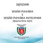 Sessão Plenária 29/11/2016