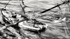 SINKING BOATS_B&W (zkapov1) Tags: boats rijeka hdr river longexposure fiume croatia ndfilter bw berth