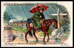Liebig Tradecard S801 - The Business Traveller in 1804 (cigcardpix) Tags: tradecards advertising ephemera vintage liebig chromo