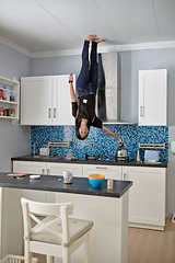 """""""Put the kettle on while you're up there love"""" (FimRay) Tags: illusion upsidedown inverted people house interior fun pattaya thailand upsidedownhouse"""