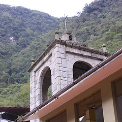 Aguas Calientes Church (oxfordblues84) Tags: machupicchu oat overseasadventuretravel peru cusco cuscoprovence aguascalientes plazamancocapac machupicchupueblo aguascalienteschurch church religiousbuilding churchtower colonialchurch town