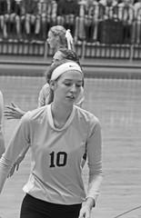 IMG_7840 (SJH Foto) Tags: girls volleyball high school york delone catholic team teen teenager substitution sub rotation black white blackandwhite bw monocolour