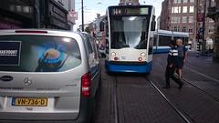 Vrij Parkeren (Peter ( phonepics only) Eijkman) Tags: city holland netherlands amsterdam transport nederland tram rail rails trams noordholland gvb combino nederlandse
